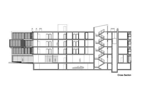 Section 52 Planning by Residential Building Plan And Section View Modern House