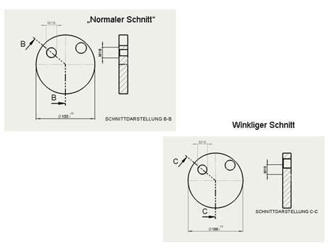 schnitt technische zeichnung winkliger schnitt ds solidworks solidworks foren auf