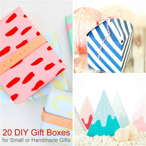 Small Handmade Gifts - 20 diy gift box ideas for small or handmade gifts