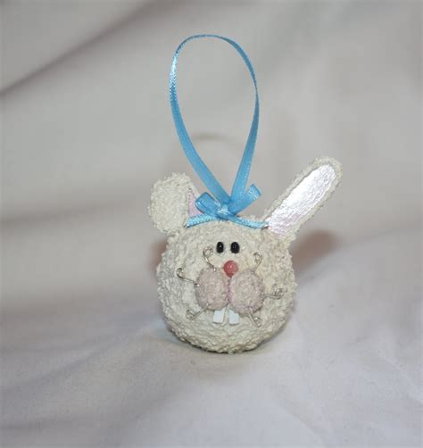 bunny rabbit ornament easter ornament christmas by