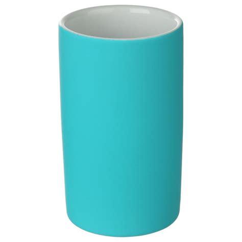 gobelet salle de bain quot rubber quot turquoise