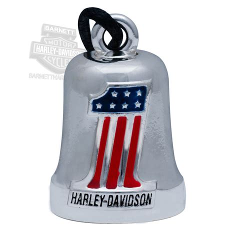 hrb070 harley davidson 174 925 silver white blue 1 logo ride bell by mod jewelry