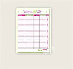 free printable gift list template 27 gift list templates free printable word