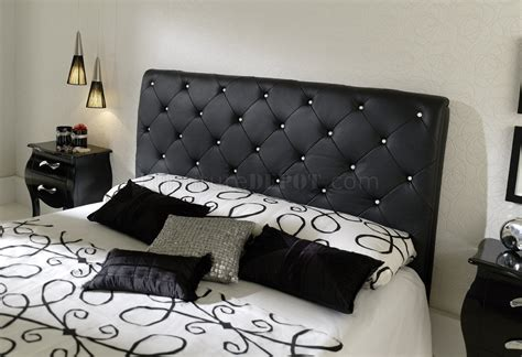 how to make leather headboard nelly bedroom by esf with black tufted leather headboard