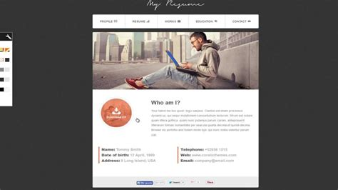 Bootstrap Resume by Resume Responsive Bootstrap Cv Resume
