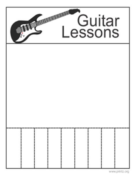 Guitar Lessons Guitar Lesson Flyer Template
