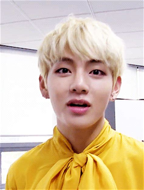 kim taehyung yellow kim taehyung smile tumblr
