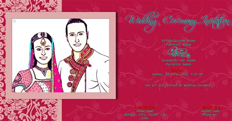 Free Indian Wedding Invitation Email Template Jin S Invitations Email Indian Wedding Invitation Templates Free