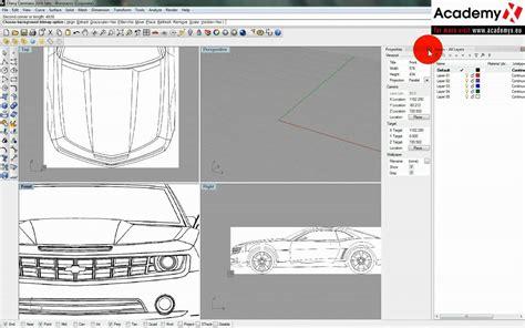 tutorial video rhino mc neel rhinoceros car modeling tutorial part 2 versi on