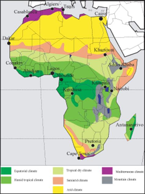 climate map of africa africa climate both version images frompo