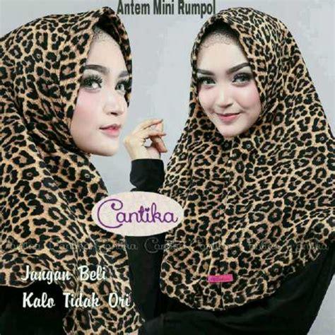 Khimar Leopard Antem Ori Cantika jilbab rumpol leopard cantika jilbab instan