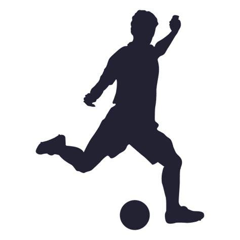 imagenes png futbol jugador de f 250 tbol pateando la silueta descargar png svg