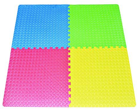 Foam Square Mats by 16 Square Ft Multi Color Excise Mat Thick Foam 4 Tile