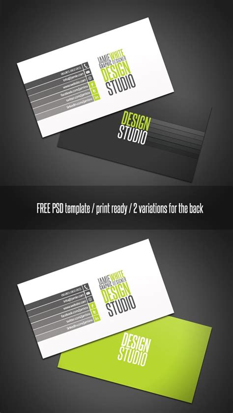 professional business card templates free 700 free psd templates for