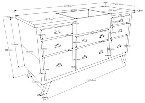 profondeur meuble de cuisine profondeur standard meuble cuisine table de lit