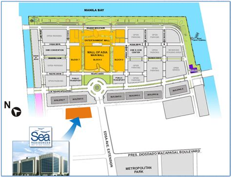 sm mall of asia floor plan sea residences beside sm mall of asia