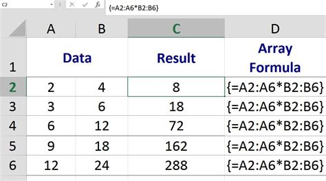 excel tutorial array formula excel multi cell array formula calculations