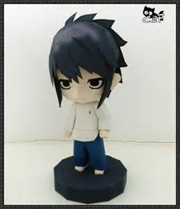 Figure Papercraft - note chibi l free figure papercraft
