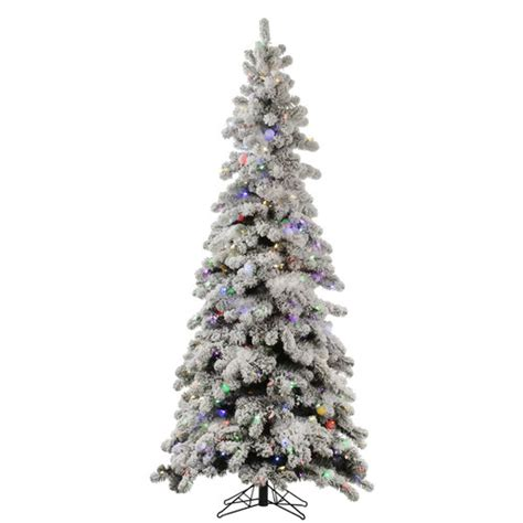 vickerman flocked kodiak 5 white spruce artificial