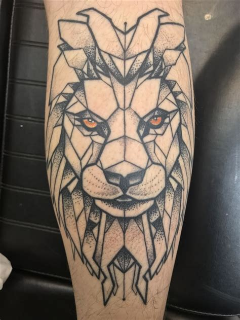 geometric lion tattoo best 25 geometric ideas on