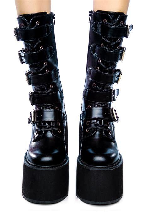 demonia boots demonia swing platform boots dolls kill