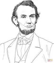 abraham lincoln coloring pages president abraham lincoln portrait coloring page free