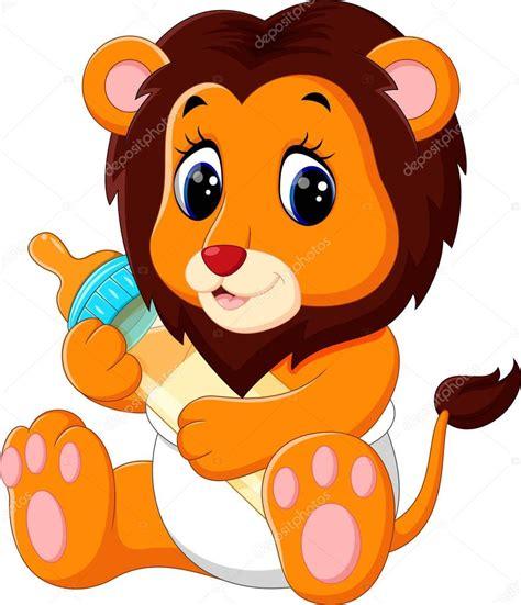 imagenes de leones bebes animados ilustraci 243 n de dibujos animados de le 243 n lindo beb 233