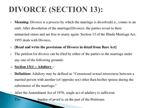 Hindu Marriage Act Section 13 B by Matrimonial Remedies Hindu Marriage Act 1955