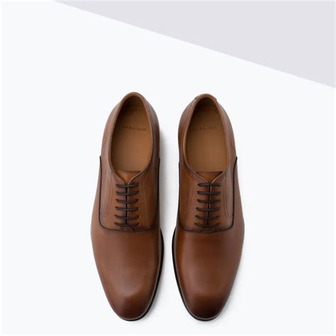 Zara Shoes Brown zara dressy leather shoes in brown for lyst