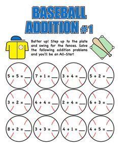 free printable math baseball worksheets 1000 images about sports theme on pinterest baseball