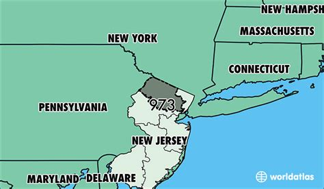 what us area code is 973 where is area code 973 map of area code 973 newark nj