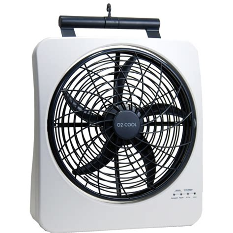 ozark trail 10 battery operated adjustable portable fan o2 cool 10 quot smart power rechargeable swivel fan walmart com