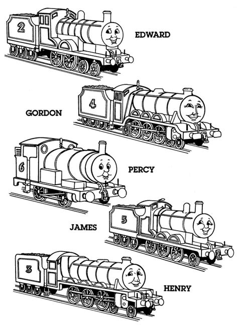 henry train coloring page ausmalbild thomas die kleine lokomotive thomas die