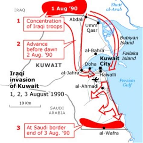kuwait iraq map origins of the gulf war history revision for gcse