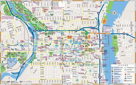 printable street map of philadelphia map of downtown philadelphia pictures to pin on pinterest