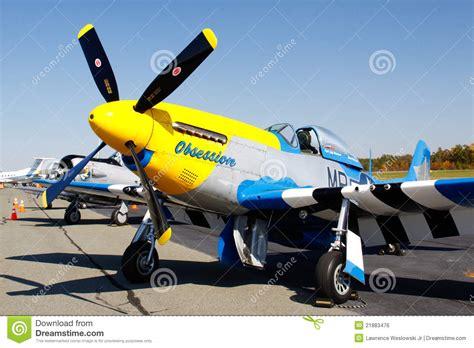 mustang fighter plane p 51d mustang fighter plane on display editorial photo