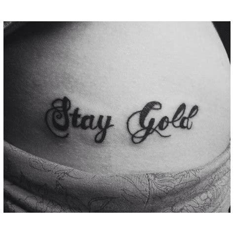 stay gold tattoo stay gold with tattoos skin