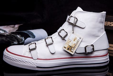 Jual Converse Special Edition converse vs ash limited edition multi buckles white leather chuck all high tops