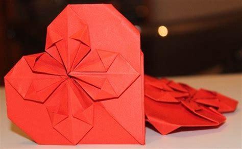 tutorial origami a cuore san valentino fai da te biglietto di auguri con gli