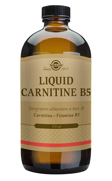 alimenti con carnitina integratore liquido di l carnitina e vitamina b5