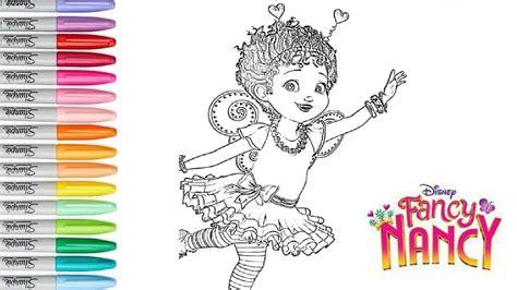 fancy nancy coloring pages disney s fancy nancy as a ballerina from disney junior