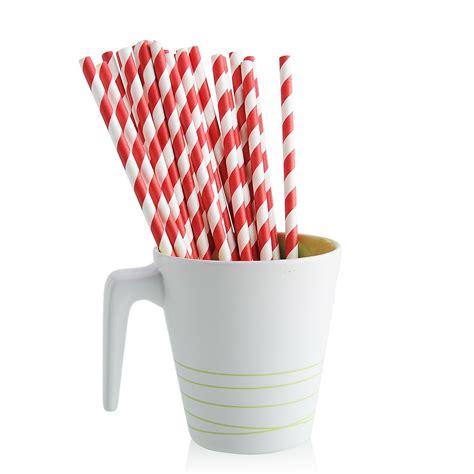 Festival Supplies Striped 25pcs striped paper straws festival supply