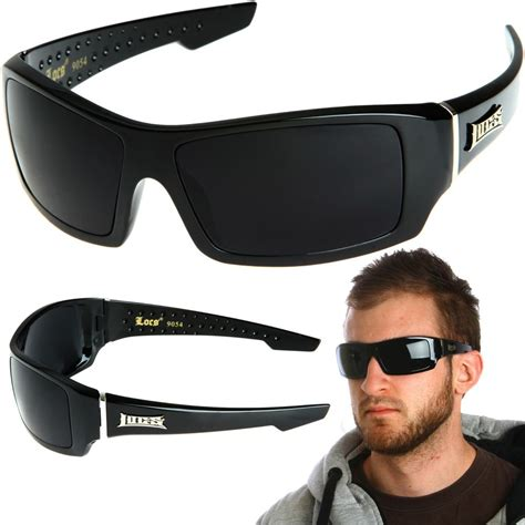 Blind Dark Glasses Locs Rectangular Gangster Black Shades Mens Designer