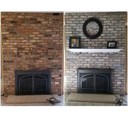 How To Wash Brick Fireplace how to white wash brick fireplace makeover crafty morning