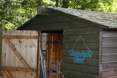 grandad s shed metal sign by bangy bee metalcraft