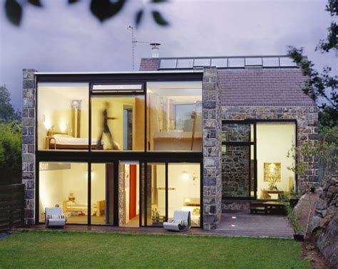 Glass Houses Stones by Glass And Modern Residence Remodeled From A 15th