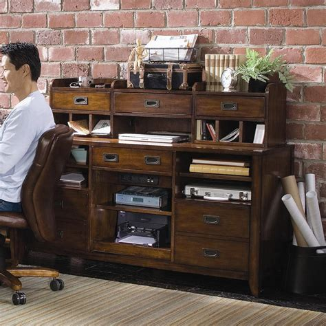 credenza open open credenza desk unit by hooker furniture wolf and
