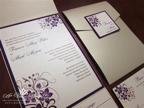 Purple Wedding Invitations by Chagne And Purple Wedding Invitation With Orchid Design