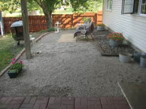How To Build Gravel Patio Happy At Home A New Gravel Patio