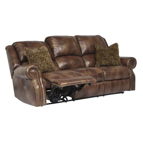 walworth reclining sofa reviews ashley walworth leather power reclining sofa in auburn